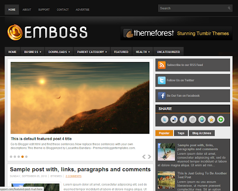 Emboss Blogger Theme