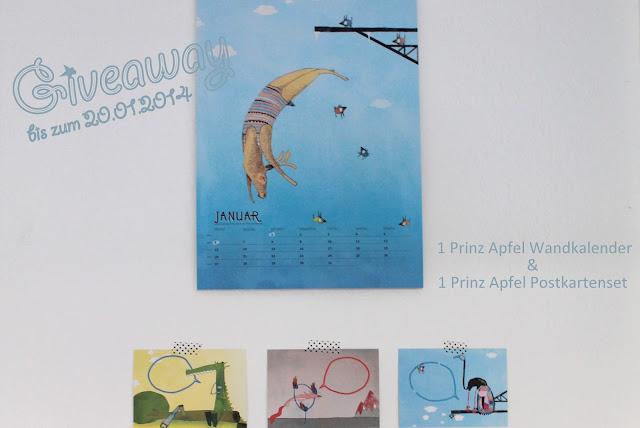 Giveaway Kalender und Postkartenset Prinz apfel