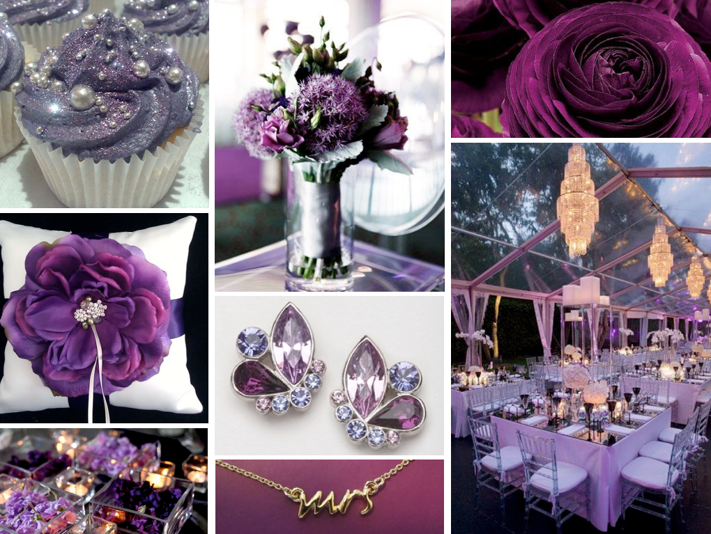 Dark Purple Wedding Decorations