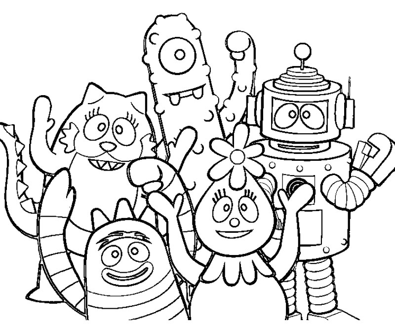 yogabbagabba coloring pages - photo #15