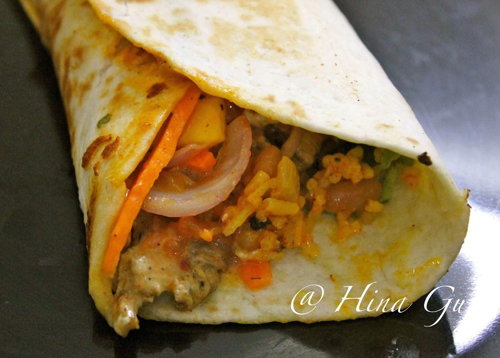 Cajun Rice and Grilled Chicken Burrito