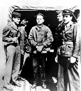 Nazi leader Rudolf Hoess captured