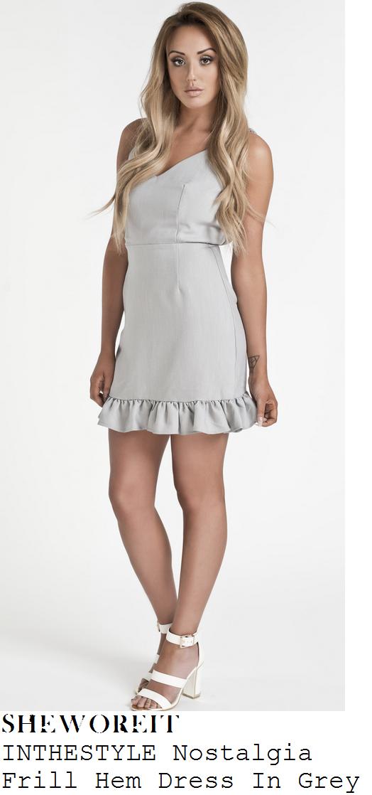 charlotte-crosby-grey-sleeveless-frill-hem-mini-dress