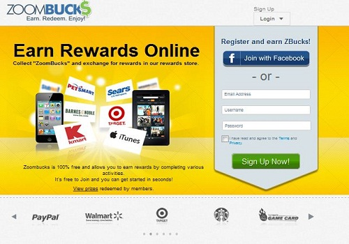 ZoomBucks offers so many ways to win prize and earn money online by playing game on their website.