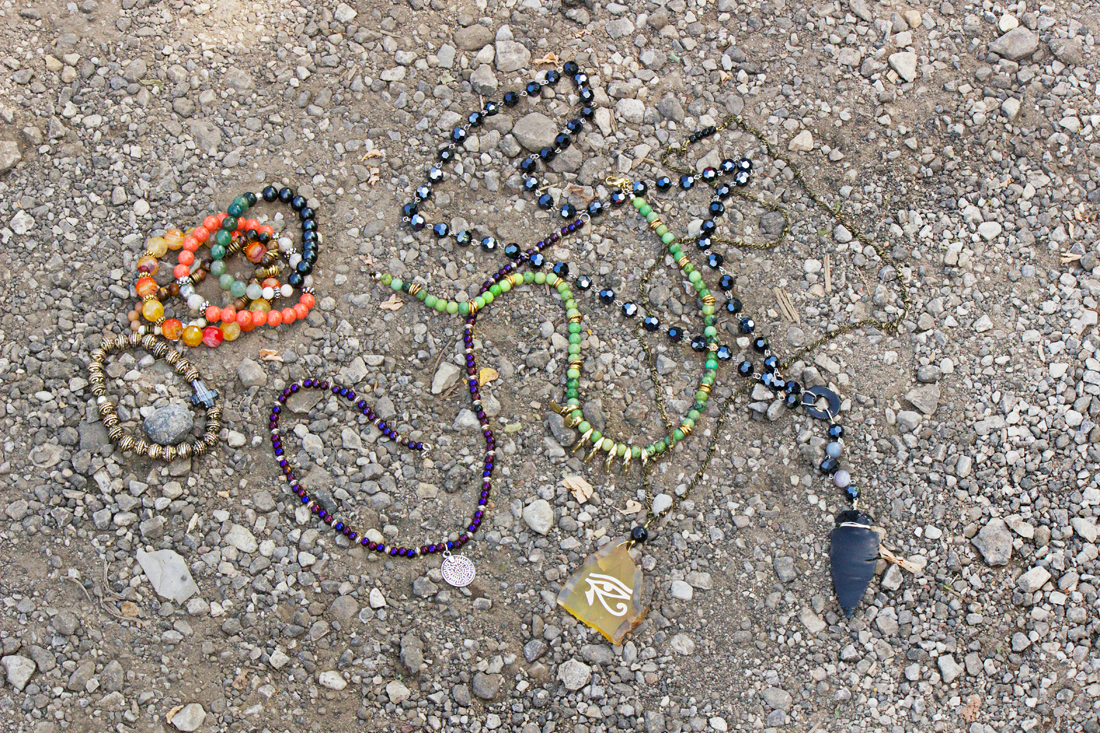 bohemian beaded necklaces for men by Quiet Lion Creations