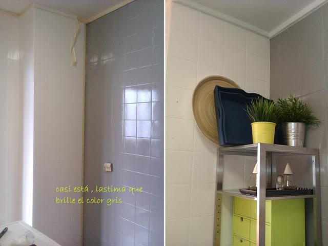 Antes y despu s la cocina de patricia despu s de pintar - Hay pintura para azulejos ...