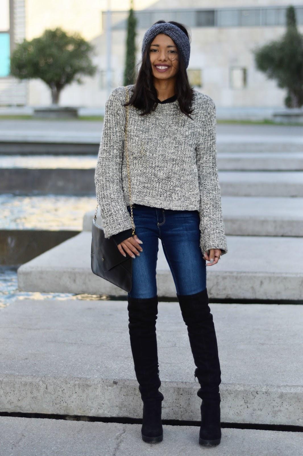 Plexida Turban Ymi jeans Black Thigh boots