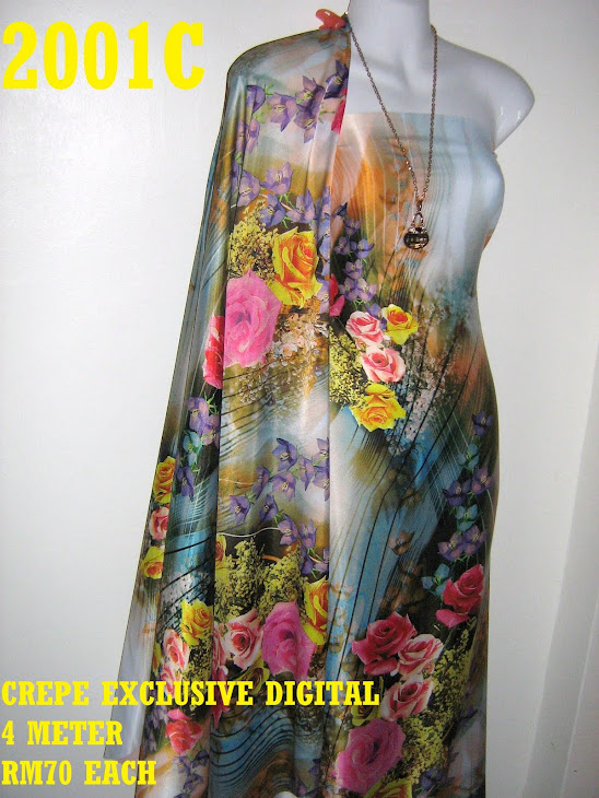 CP 2001C: CREPE EXCLUSIVE DIGITAL PRINTED, 4 METER