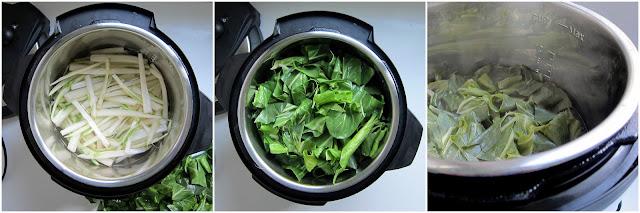 pressure cooker bok choi in Instant Pot pressure cooker