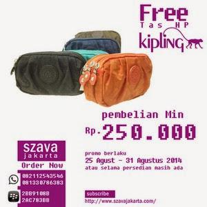 Promo Free Tas Kipling