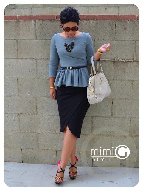 diy peplum top and diy skirt pattern review b5672 v8711
