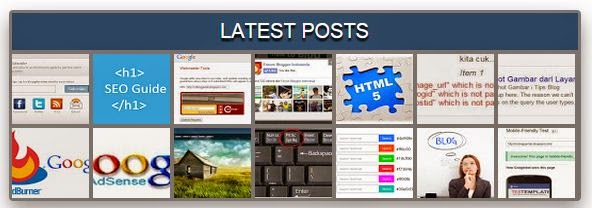 Widget Recent Posts Unik untuk Blog