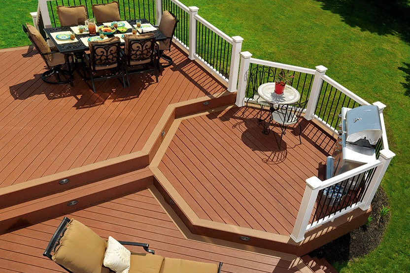 terraza con tarima exterior sintética