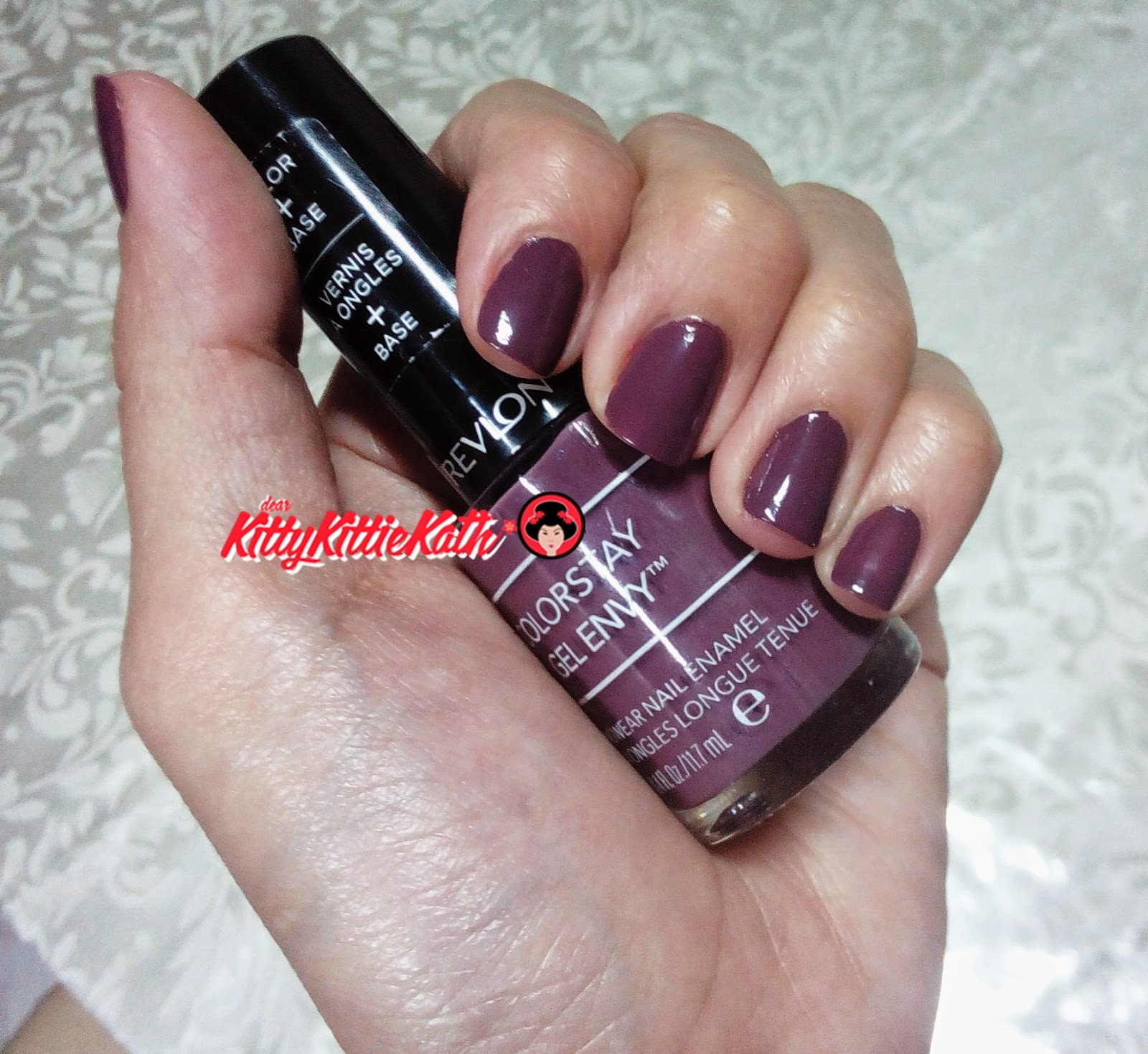 Product Review Revlon Colorstay Gel Envy Nail Enamel In Hold Em An Eggplant Shade