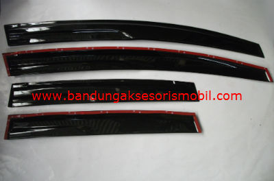 Talang Air New Jazz / All New Jazz Mugen Hitam 3M Depan Belakang