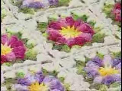flor rasteira em ponto pipoca