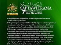 القواعد السَّبعة / Tujuh Strategi Kebudayaan Islam Nusantara