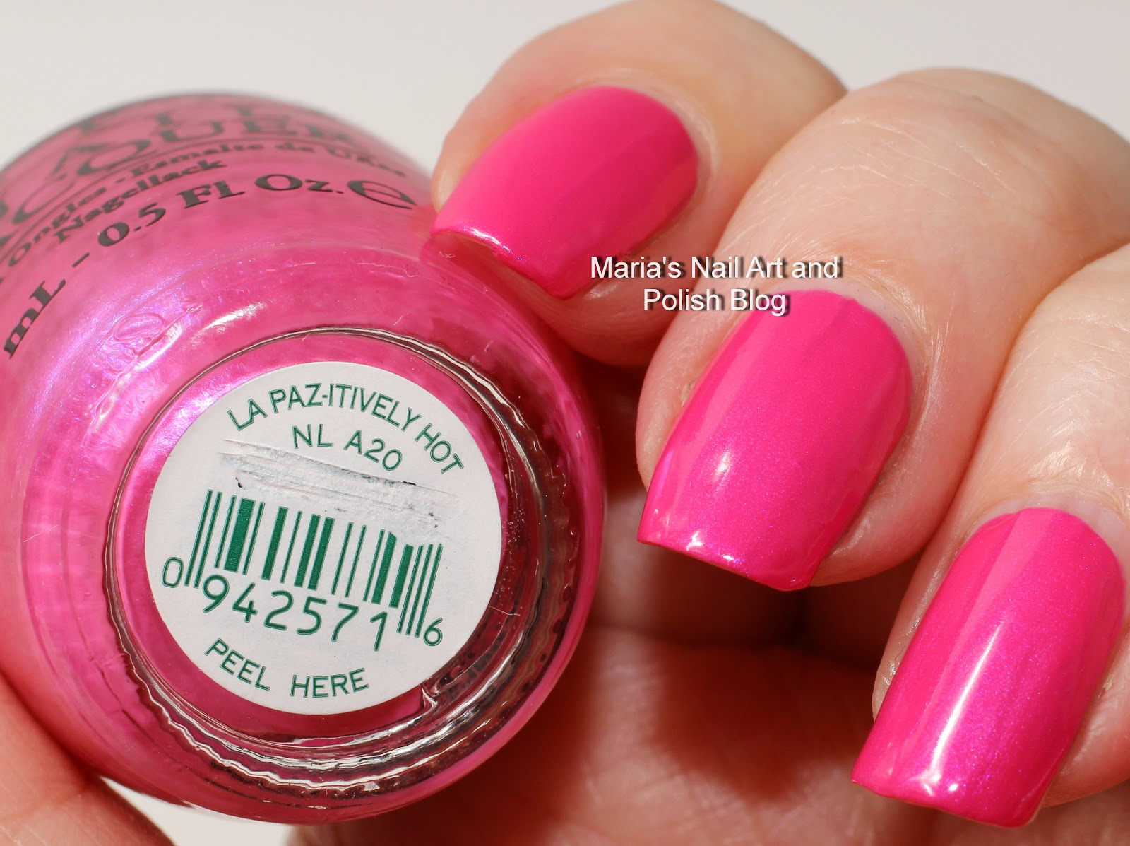 And Opi La Paz Itively Hot Matte