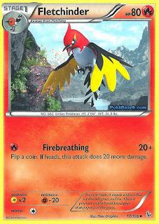 Fletchinder Flashfire Pokemon Card