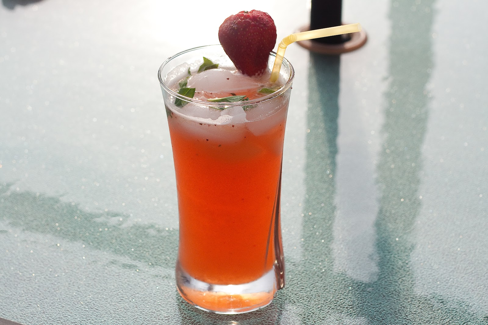 Strawberry Basil Lemonade | Dishing Gourmet