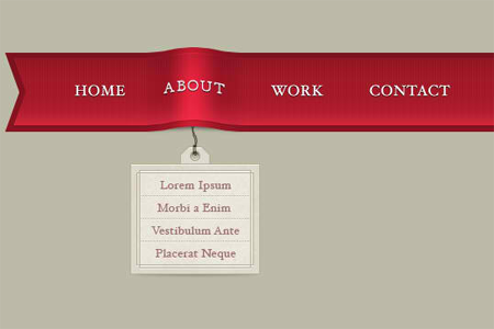 Elegant Ribbon Menu
