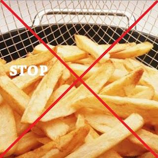 stop makanan gorengan
