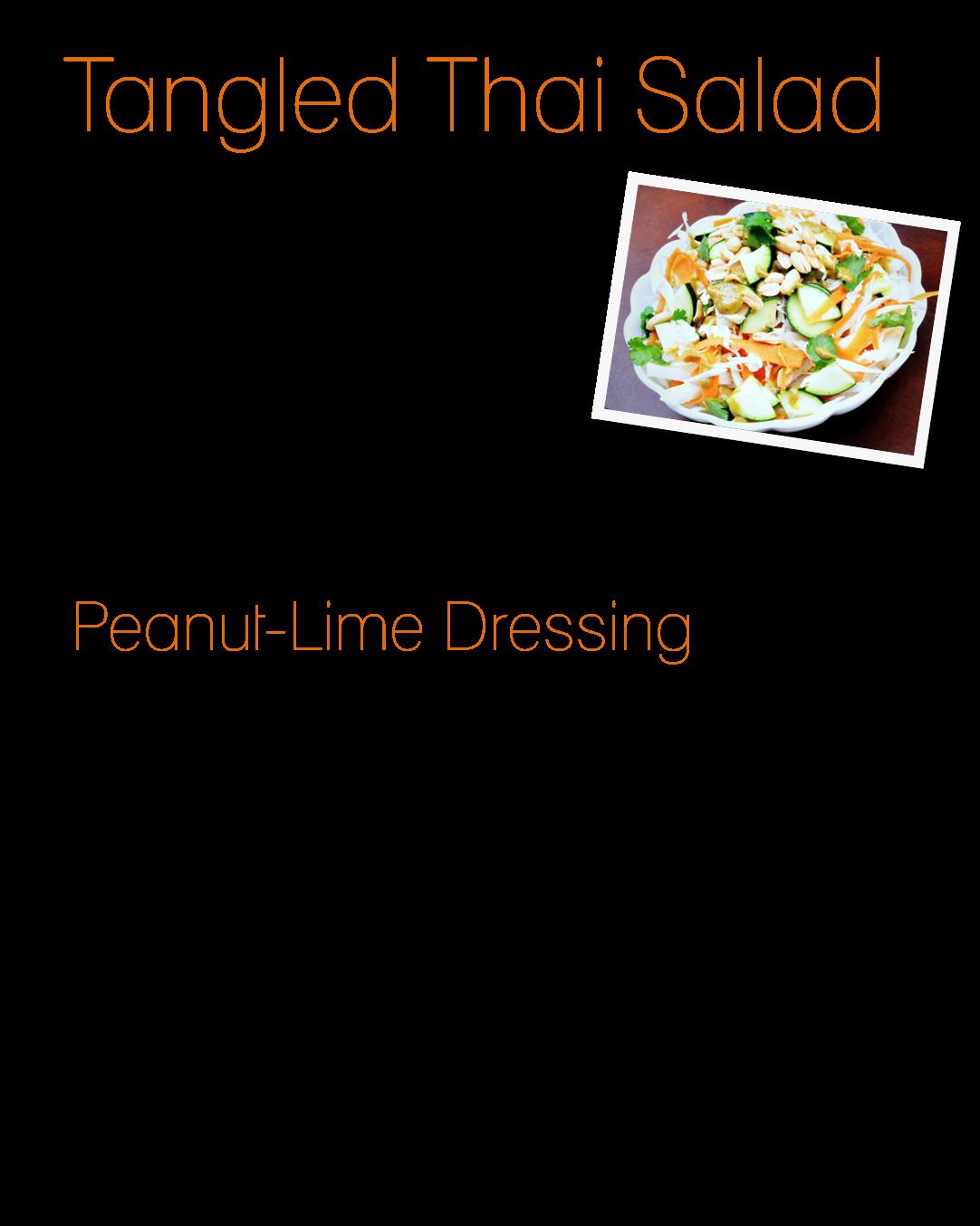 Finding My Aloha: Summer Salads: Tangled Thai Salad with Peanut Lime ...