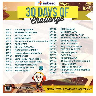 Kompetisi 30 days Ramadhan Instagram Challange