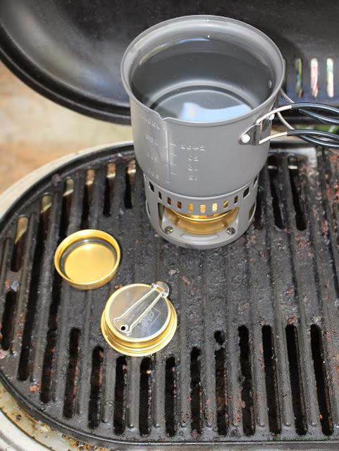 Esbit 5-Piece Trekking Cook Set - Test: Setup For Test