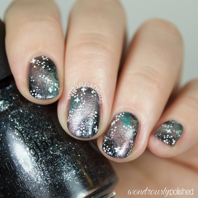 Wondrously Polished: The Beauty Buffs - Metallic: Galaxy Nail Art