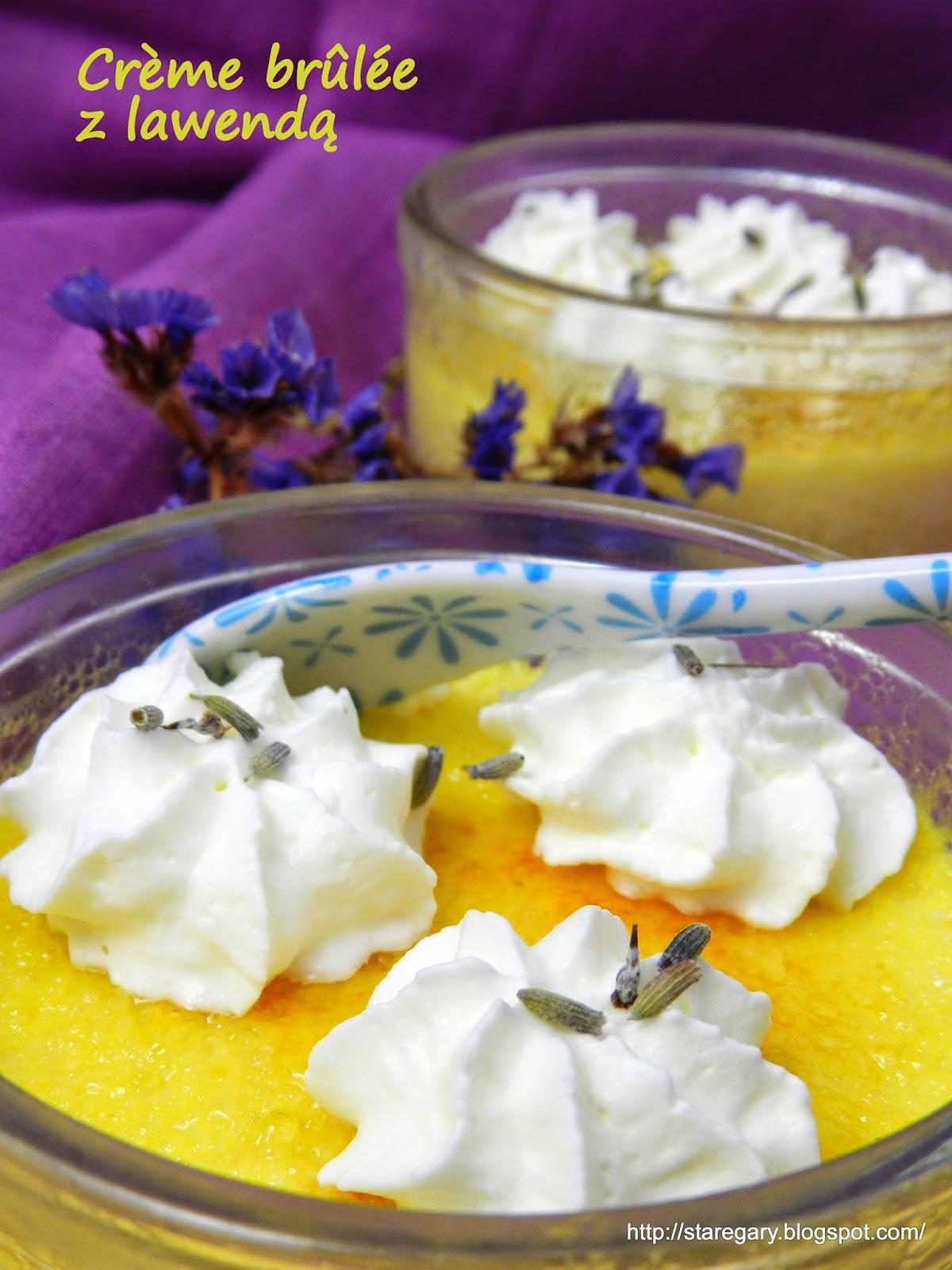 Crème brûlée z lawendą