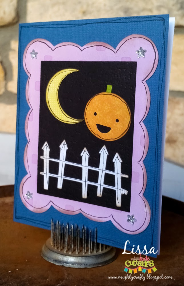 Cute and Sweet Halloween Card by Lissa for Miss Kate Cuttables