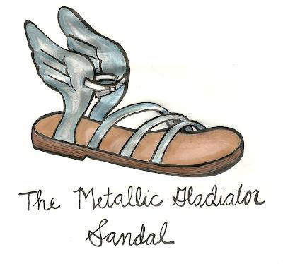 Silver Metallic Gladiator Sandal Spring Summer 2013