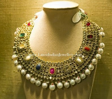 Navaratna Bridal Jadau Necklace