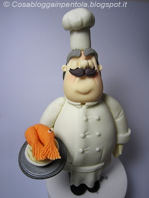 cook cuoco pasta di zucchero topper sugarcraft fondant carlos lischetti cosa blogga in pentola cosabloggainpentola