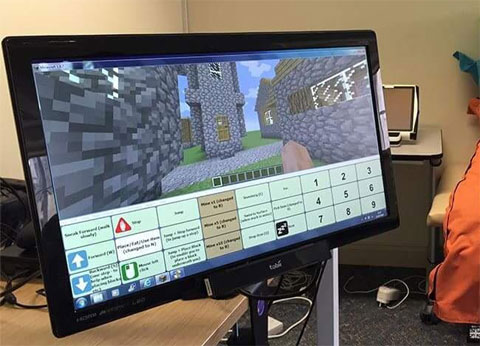 Eye Gaze Minecraft playable with a single mouse, head-tracker or eye-gaze unit. Under construction by Bill Donegan at SpecialEffect.