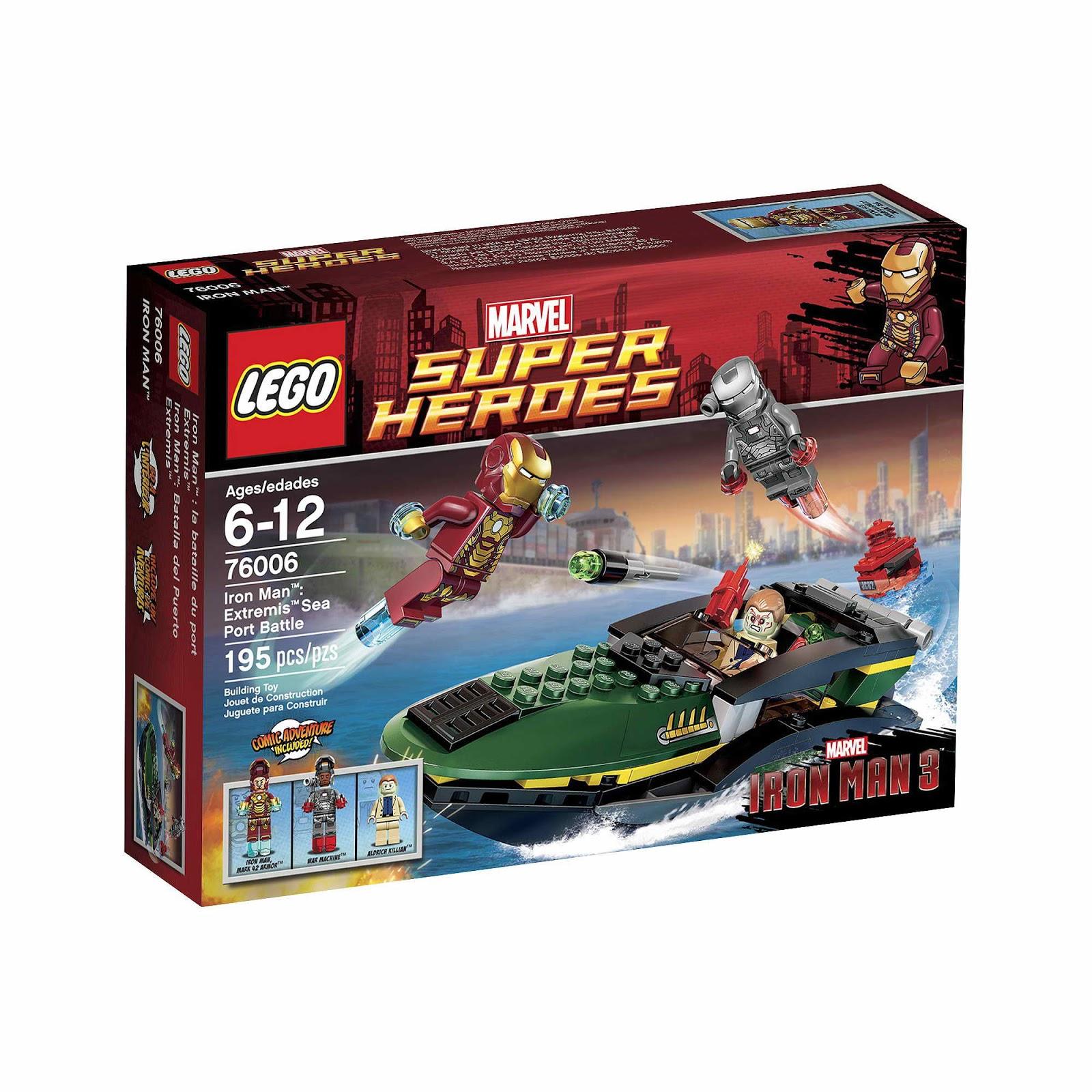 Repubblick set database lego 76006 iron man extremis - Lego iron man extremis sea port battle ...