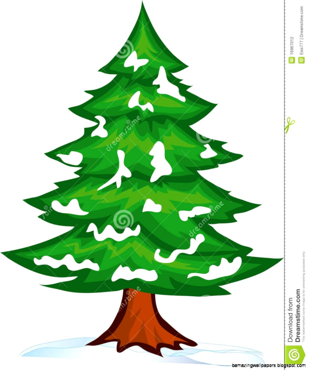 Winter Pine Trees Clipart
