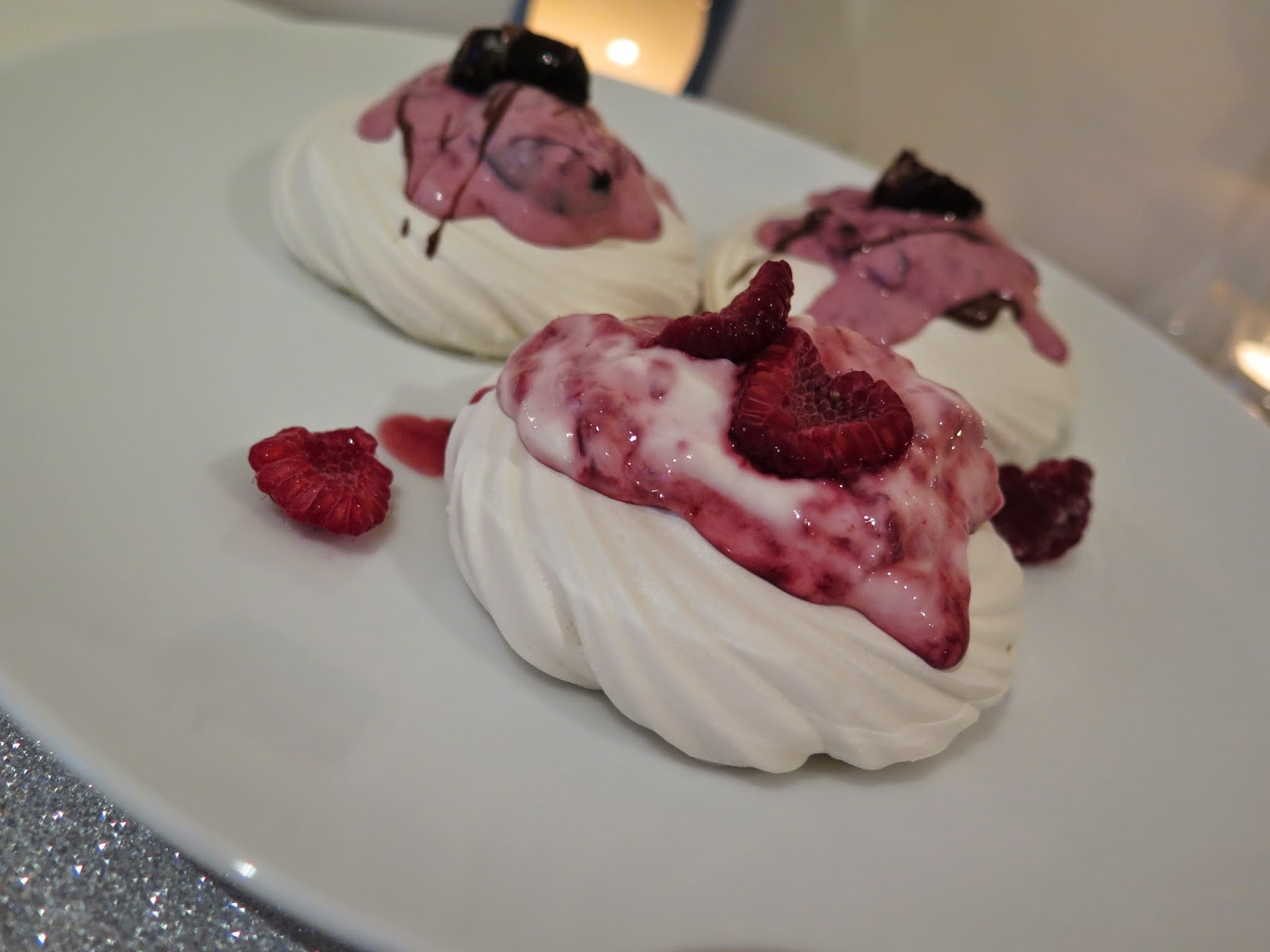 lemon and rasberry meringue