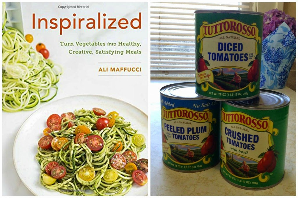 Enter to win Inspiralized Cookbook and two coupons for Tuttorosso Tomatoes