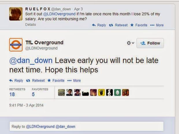 Screenshot of the infamous tweet stating 'Leave early, you will not be late next time'.