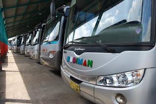 Deretan Bus Budiman (Garasi BUs Budiman)