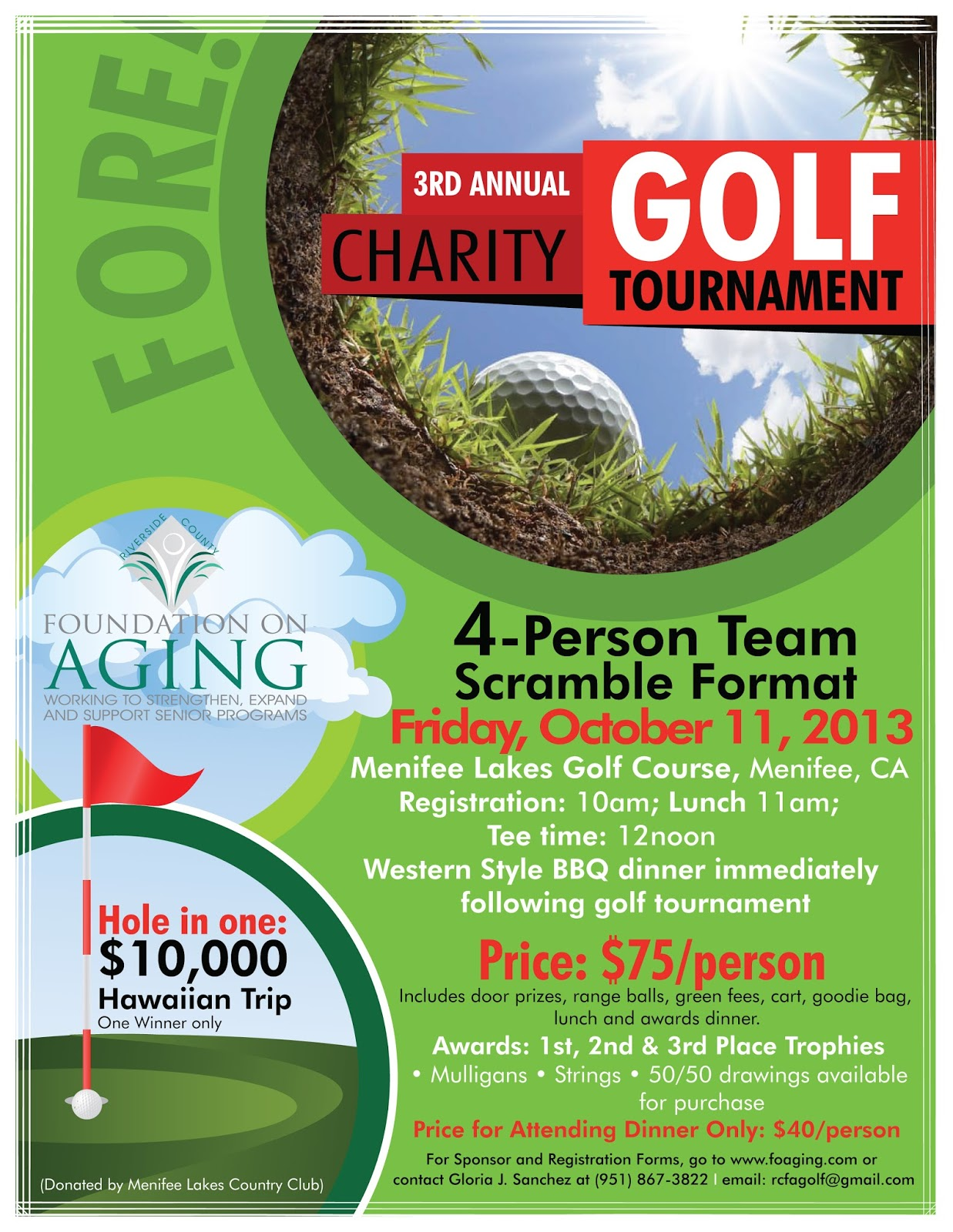 Golf tournament sponsorship template