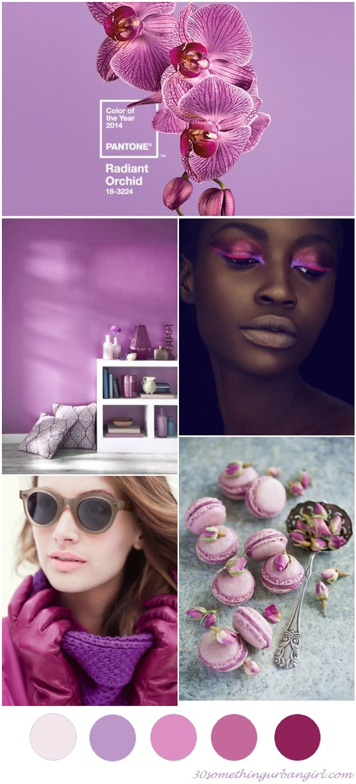 pretty Radiant Orchid color palette