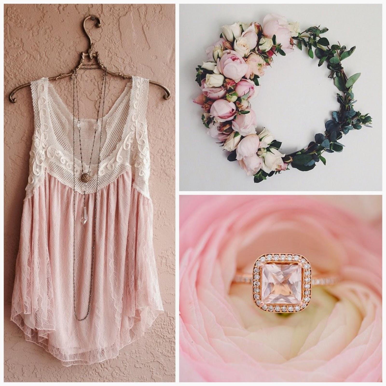 corona de flores anillo de pedida