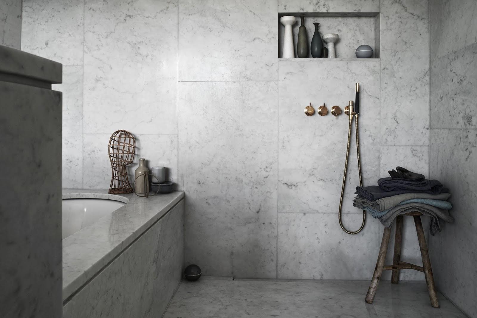 Hitta inspiration badrum i marmor från golv till tak på roomly.,se