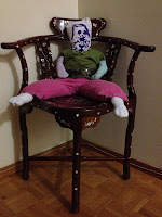 homemade stuffed toy, upcycled children's clothes