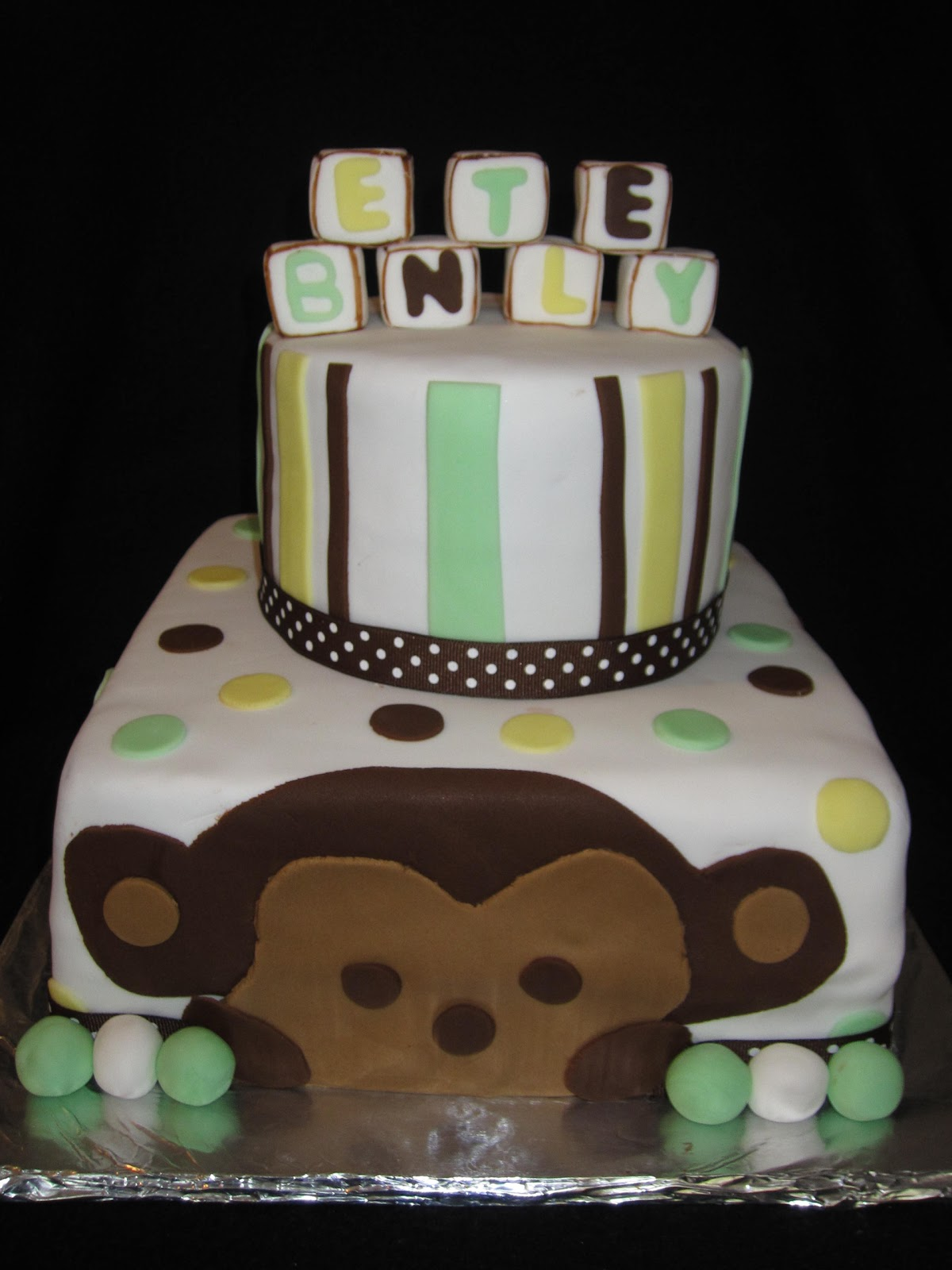 Sabtabulous cakes monkey baby shower cake - Baby shower monkey theme cakes ...