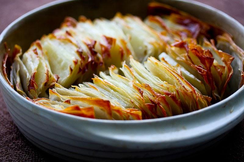 Fabuloso menú de otoño con recetas y productos de temporada: laminas de patatas gratinadas