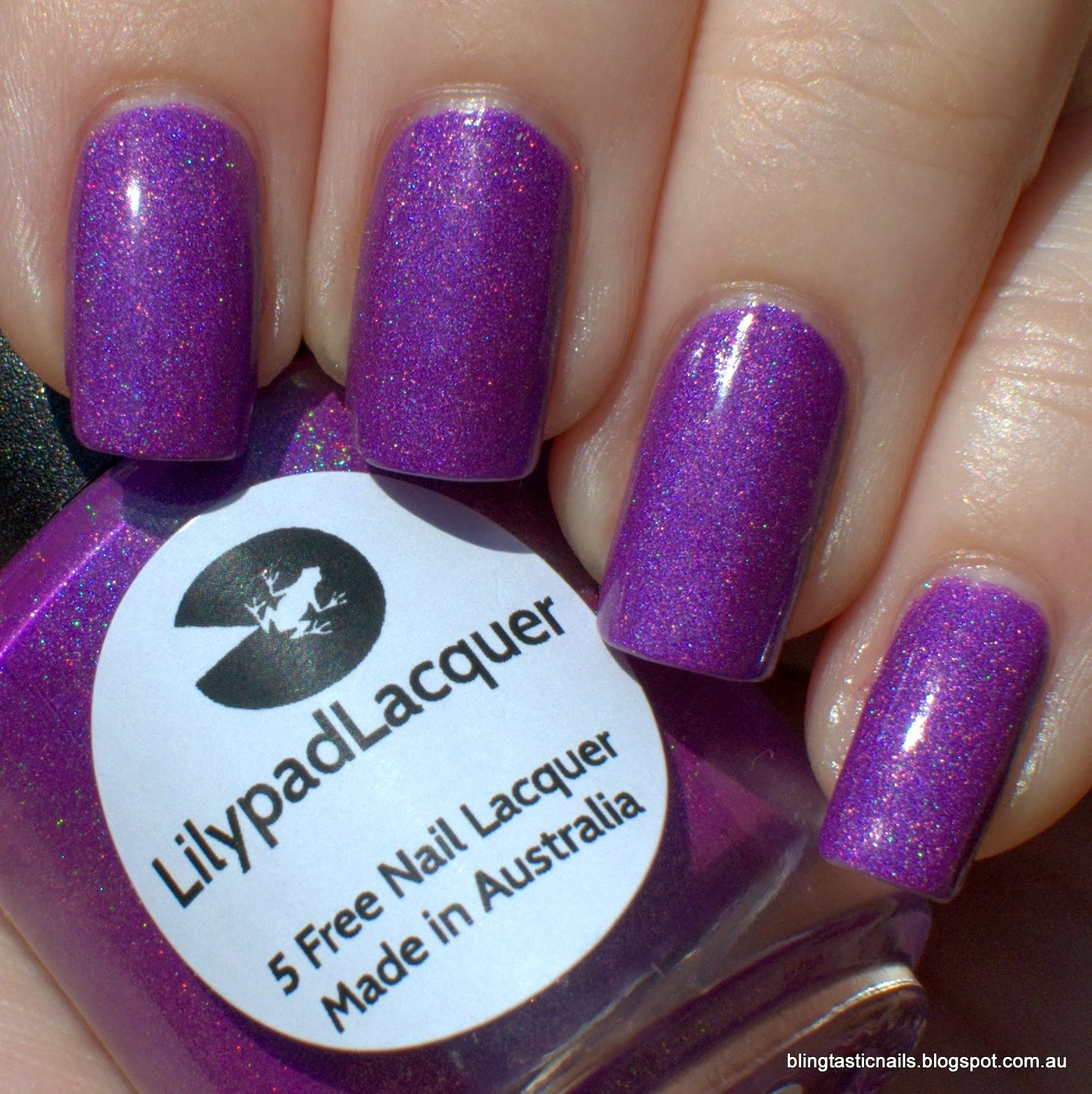 Lilypad Lacquer Popping Purple